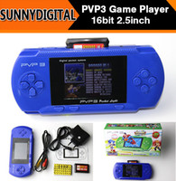 Wholesale Portable PVP3 Bit inch Handheld Game Players Pocket Video game console Arcade Games for Chirldren Chirstmas Gifts