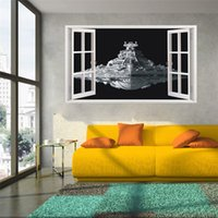 Wholesale 2016 Star Wars the spacecraft d wall stickers Remove and waterproof wall stickers