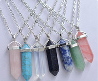artilady - Artilady multi color quartz necklaces Pendant Necklace chain crystal necklace women jewelry accessories