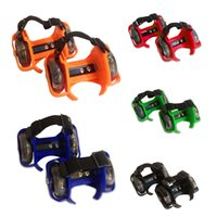 sports shoes skateboard - Sporting Pulley Lighted Flashing Wheels Heel Skate Rollers Skates Wheeled Shoes Flashing Roller Skate Scooters YT0239