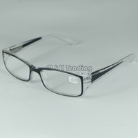 Wholesale Good Quality Reading Glasses Plastic Frame Myopia From to And Hyperopia From to Transparent Black Spring Hinge