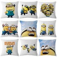 Wholesale 100PCS LJJH544 Cartoon cute Despicable Me minions Pillow Case car cushion office pillow cm