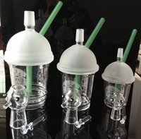 Starbuck Cup bong Original Opaque Concentré de concentré de concentré de dabs vert brillant bong de verre Tubes d'eau en verre de narguilé avec bongs Dôme et ongle en verre