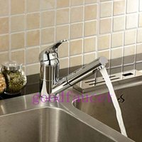 Cheap Hot Sale Wholesale And Retail NEW Pull Out Deck Mounted Kitchen Mixer Tap Bathroom Faucet Single Handle Chrome Finish Tap