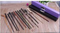 Wholesale 100pcs DHL Harry Potter Magic Wand Dumbledore Magic Magical Wand Cosplay Wands With box Non luminous Styles