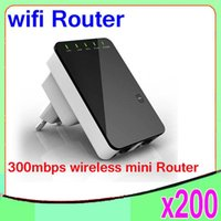 Cheap High Quality Portable 300Mbps Wireless-N Mini Router Internet Connection with WiFi Repeater Networking & Communications WPS 200PCS ZY-LY-01