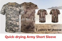 Wholesale 2015 New Army Short Sleeve Quick drying Comfortable Breathable Camo T Shirts colors choice