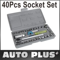 Wholesale 40 Pieces Socket Sleeve Wrench Combination Set Motorcycle Vehicle Repair Tool Kit Car Accessories New Arrival