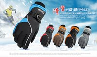 Wholesale 2014 hot explosion models male and female models warm ski gloves warm glorves polar cold abrasion