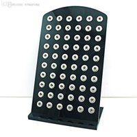Wholesale s Fashion Jewelry Displays Black mm Snap Button Acrylic Stand Displays