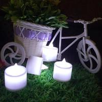 24pcs LED velas decoraciones de Navidad envío libre LED boda de la fiesta de cumpleaños Día Tealight Tea Candle Light Batería de San Valentín - 0001CHR