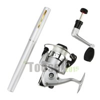 Wholesale Mini Rod Pen Shape Fish Fishing Rod Reel Line Set camping Pole Reel line Bobber Portable Pocket Rod High quality