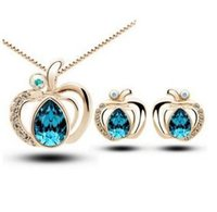 apple paradise - Fashion new Apple Paradise cute earrings elegant necklaces jewelry sets for women CS228B12