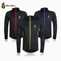 clothing sport coats - Cycling Clothing Bicycle Jacket Coat Bike Long Sleeve Jersey Fitness Clothes Winter Thermal Fleece Breathable Windproof Sport WOLFBIKE