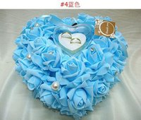 Wholesale Wedding Ring Pillow New Romantic Heart Shape With Gift Box PC B12