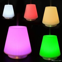 Wholesale 2016 LED Colors Changing Table Lamp Type Ultrasonic Aroma Diffuser Aromatherapy Air Humidifier ml HOA_360