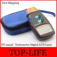 Wholesale P025 DT C LCD Digital photo tachometer IR From RPM DT2234C Tach Meter RPM