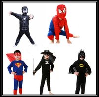 Cheap Red spiderman costume black spiderman batman superman halloween costumes for kids superhero capes anime cosplay carnival costume