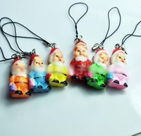 resin material - Lovely Little Snowman Cell Phone Straps Accessories Christmas Gift For Children Key Chains Santa Claus Resin Material Hangings H2957