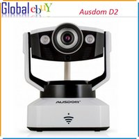 Wholesale AUSDOM D2 Indoor Wireless IP Camera WiFi P2P HD Household P Cloud Camera Night Vision Pan Tilt Two Way Audio Security Camera
