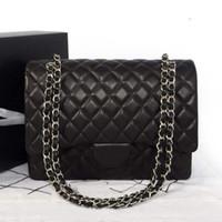 Wholesale women s handbag MAXI series double flap women s Large58601 shoulder bag women leather handbags women messenger bags