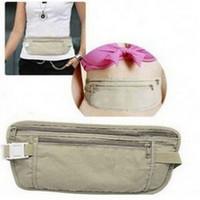 Wholesale 2014 Safe Travel Money Passport Waist Packs Security Waist Belt Strap Holders Gtay Nylon Wallets Bags Purses bz640245