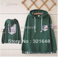 Wholesale Attack on Titan Scouting Legion hoodie II Cosplay Winter