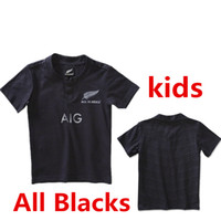 Wholesale Whosales discount KIDS New Zealands All Blacks Rugby Jersey World Cup RWC Rugby Shirt bOYS Children XXS XXL best quality Free Ship