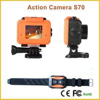 Wholesale Original SOOCOO S70 Action Camera NTK96660 K HD P FPS Sport Cameras Waterproof M H Build in WIFI Camera Watch Remote Control