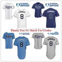 bay logo - 2016 New Desmond Jennings Jersey Tampa Bay Rays throwback Jerseys Cool Base Mens Baseball Home Away White Grey Embroidered Logo