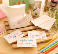 Wholesale Free ship box white paper card message cardboard word business card Post card