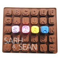 alphabet cutter for fondant - C065 sillicone letters alphabet chocolate mold fondant cake molds chocolate decoration for the kitchen baking