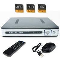 Wholesale 8CH AHD H P Non Realtime CCTV Hybrid DVR HD NVR HVR HDMI Port P2P Cloud