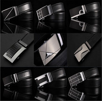 Wholesale Fashion Genuine leather mens belts men Business male Style Automatic Buckle double faced cowhide belt Cintos cinturon