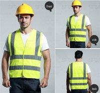 ansi safety - New Material Fashion design clothes yellow Safety Vest with Reflective Strips ansi class safety vest
