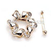 aqua scarves - silk scarf new arrival rhinestone crystal lily csarf brooch for wedding bridal top quality brooch