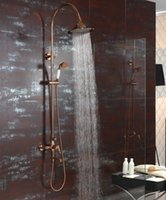 Wholesale Gold clour Waterfall Rainfall shower bathtub faucet mixer tap with handshower