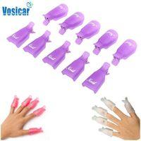 Wholesale Vosicar PC Plastic Nail Art Soak Off Cap Clip UV Gel Polish Remover Wrap Tool Freeshipping