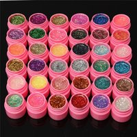 Wholesale Professional Nail Art UV Gel Builder Mix Color Shiny Glitter Hexagon Sheet Tip Set Kit DIY Fingernail Tools