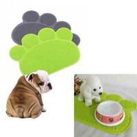 Wholesale Pet Dog Cat Puppy Dish Bowl Food Water Placemat Mat PVC Paw Shape Foot Paw Shape Colors