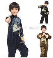 Wholesale Chinese embroidered dragon wear Tang suit traditional Chinese sets Dance Kungfu suits darncewear