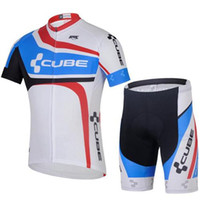 Wholesale 2015 new arrival freeshipping of team cube cycling bike wear custom design bicycle shirts and padded cycle shorts