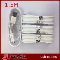 Wholesale 1 Genuine Original Micro usb charger M data cable for samsung galaxy note S6 s5 blackberry htc up