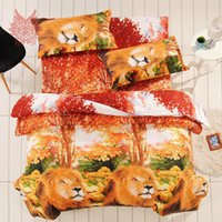 Wholesale Multi color3D flower animal building Print bedding sets100 cotton duvet cover Bed sheet Pillowcase SP1841