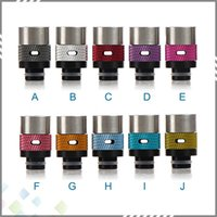 Wholesale Best Drip Tips Air Control Puffs Drip Tip Delrin Aluminum brass RDA Drip Tips Colorful Drip tip fit RDA Atomizer DHL Free