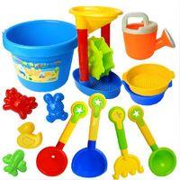 Wholesale Cute set Children Seaside Beach Snow Toy Bucket Spade Mold Tools Set Play Bath Time