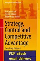 advantages management - Strategy Control and Competitive Advantage Management for Professionals