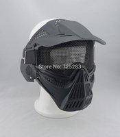 Al por mayor-Cráneo Airsoft Paintball del ARMA del BB Caza Juego de Guerra Proteger guardia PROTECCIÓN máscara # 2