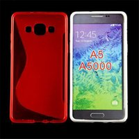 Wholesale S Line Soft TPU Case Cover Crystal Clear Transparent Gel Silicone Cases Skin For Samsung galaxy A5 A5000 S Line Shell DHL Shipping Free