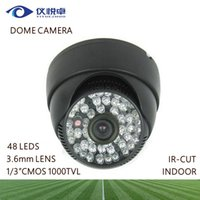 Wholesale CCTV Camera quot CMOS TVL Security Infrared Camera Indoor IR CUT Night Vision DVR Surveillance Dome Camera System W99